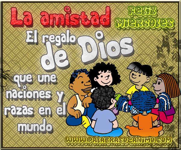 La amistad es el regalo de Dios que une naciones y razas en el mundo