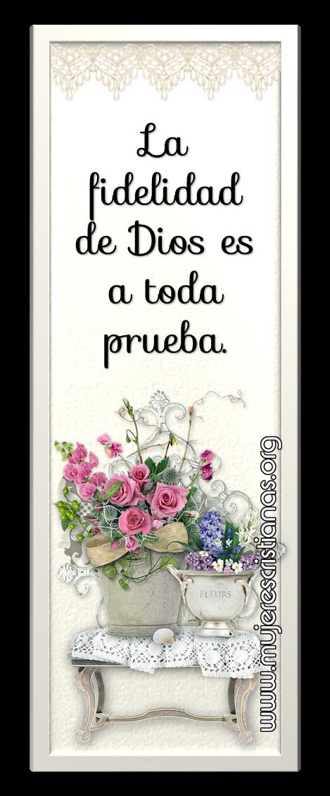La fidelidad de Dios es a toda prueba