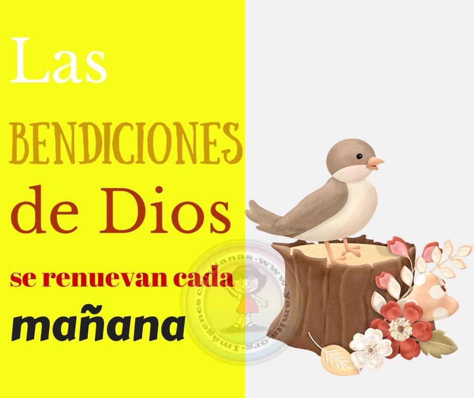 Las bendiciones de Dios se renuevan cada mañana