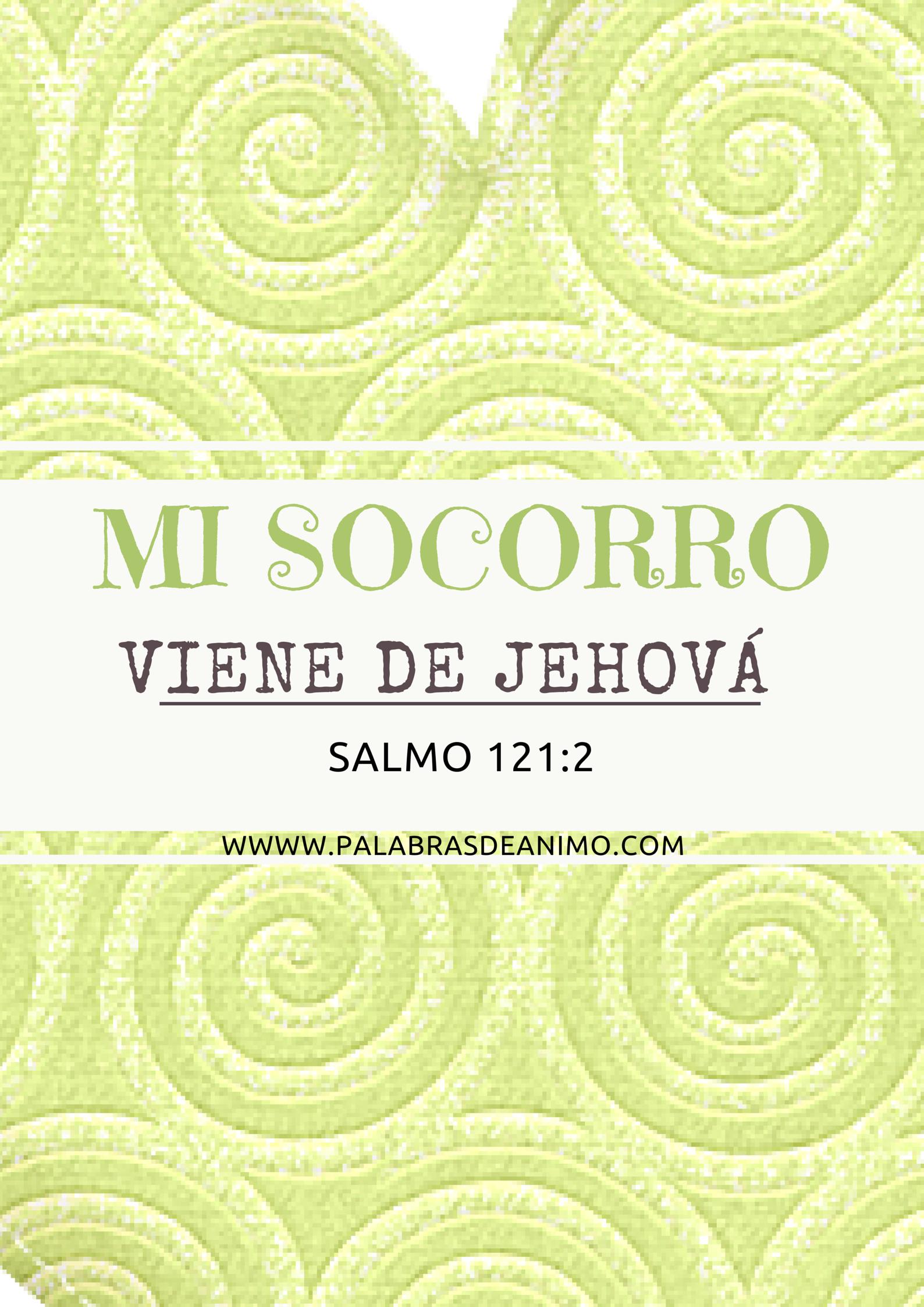 mi socorro viene de Jehová
