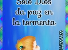 Solo Dios da paz en la tormenta