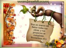 pon en manos del Señor todas tus obras